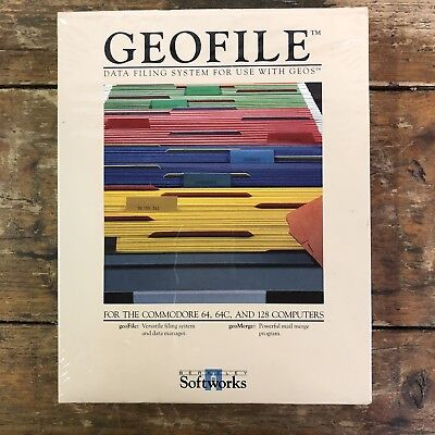 Geofile Data Filing System - Commodore 64 64c 128 - Softworks Computer Program