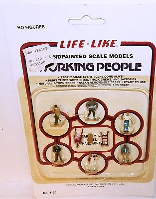 NOS Life Like 1130 9Pc HO Figures Quality Hand Painted Working People
