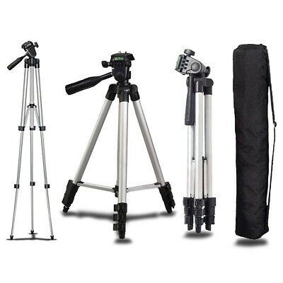 Camera Camcorder Tripod Stand With 3 Way Head for Canon Nikon Sony Olympus DSLR