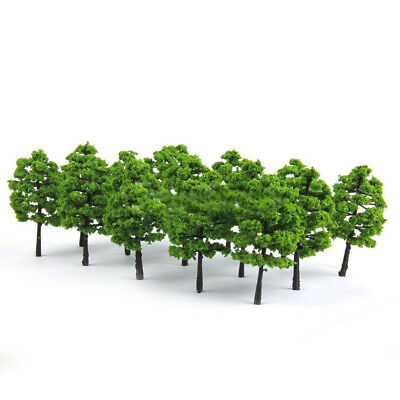 KQ_ 20 Model Trees Train Railroad Diorama Wargame Scenery HO OO Scale 1:100 Well