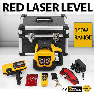 Rotary Laser Level Red Beam 500m Range Rotating Building Measuring NEWEST