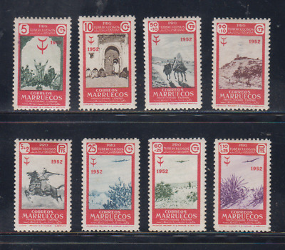 Morocco (1952) Mlh New With Stamp Hinges - Edifil 361/68 - Series Full