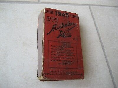 guide michelin rouge 1945