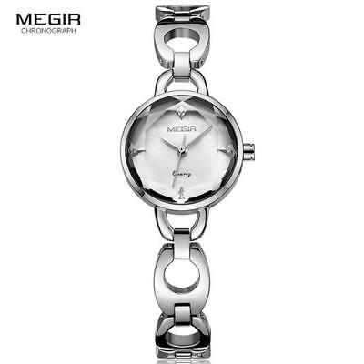 MEGIR Elegant Women's Luxury Quartz Watches Metal Strap Wristwatch for Lady Girl