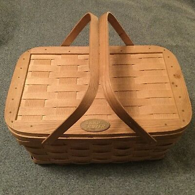 Land Rover Wooden Woven Longaberger Picnic Basket **Limited Production**
