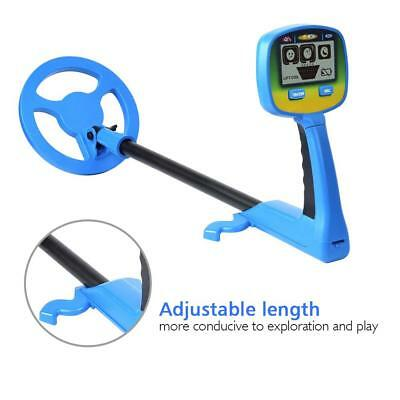Youth Kids LCD Metal Detector Coins Ground Locater Childs Waterproof Durable DH