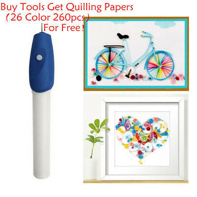 Electric Slotted Paper Craft Quilling Tools Origami Winder Curling Pen Handcraft