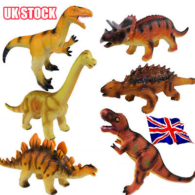 Large Soft Rubber Stuffed Dinosaur Toy Model Action Figures Play For Kid HOT! Y8
