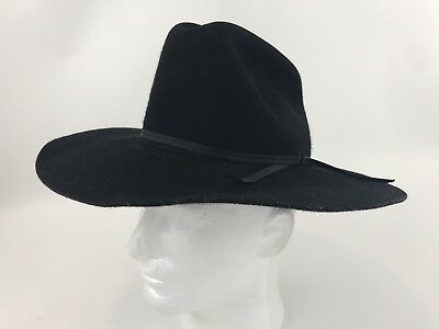 e1d996867b650b Rodeo King Black Felt Cowboy Hat Beaver Quality Low Rider Sz Large Child  Youth