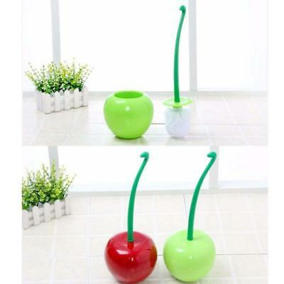 Creative Lovely Cherry Shape Lavatory Toilet Brush & Holder Set Bathroom E6gV