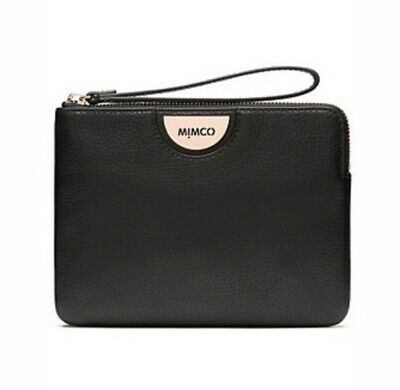 Mimco Echo Black Rose Gold Medium Size Pouch Wallet • 100% AUTHENTIC