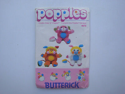 Rare patterns of sewing popples Mattel Butterik ref 4079 - vintage pattem 1986