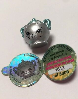 Shopkins Limited Edition Heirloom Petkin Kitty Kitchen Antique Sugar Bowl