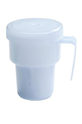 Spill Proof Drinking Cup - Uses disposable Straws