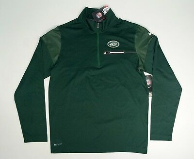 86b91a221c30 Men s Nike New York Jets Elite Coach Half-Zip Performance Jacket Green  Small NWT