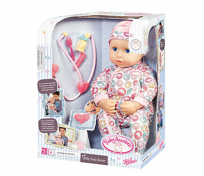Zapf 701294 Baby Annabell© Milly Feels Better Baby Puppe mit Stetoskop