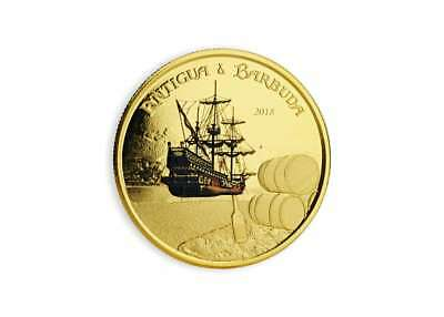 10 Dollar Eastern Caribbean 8 EC8 Rum Runner Antigua & Barbuda 1 oz Gold 2018