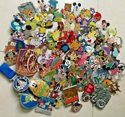 Disney trading lot of 100_Assorted pins 3D LE-Hidden mickey-rack-cast-starters