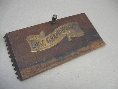 Vtg Columbia Disc Graphophone Phonograph Player Case Wood Front Panel w/ Screw