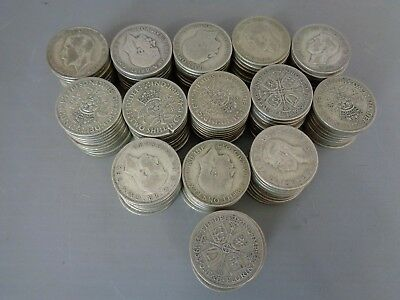 139 x Pre-1947 British florins/two shillings 2/-  2s - 1547gms - 50% silver