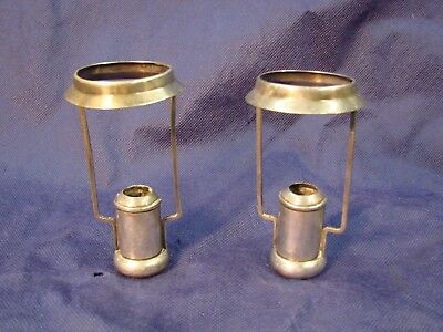 FABULOUS PAIR ANTIQUE VINTAGE TIFFANY & Co. WEIGHTED CANDLE SHADE HOLDERS NICE!