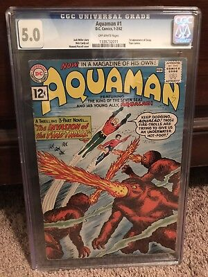Aquaman 1 1962 Movie In December! CGC 5.0 OW (xCBCS) 1st Quisp