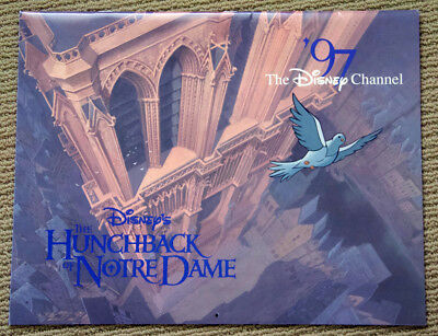 HUNCHBACK OF NOTRE DAME rare WALT DISNEY channel 1997 wall CALENDAR