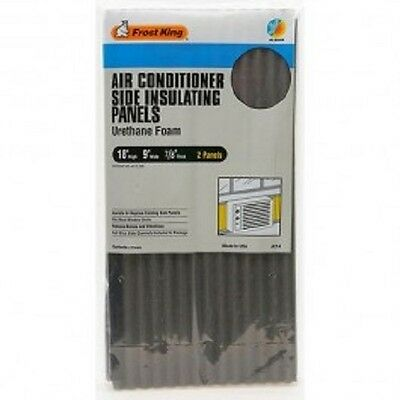 """CASE OF 6! Frost King AC14H Air Conditioner 2 Foam Side Insulating Panels 9""""x18"""""""