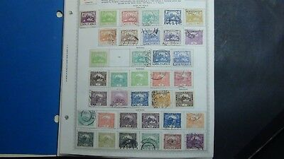Czechoslovakia stamp collection on Minkus album pages to '92 w/ 2k stamps or so