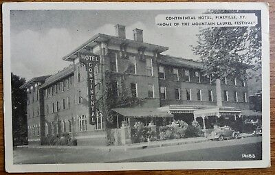 Pineville Kentucky Contintental Hotel Pineville /Middlesboro Ky Related Postcard