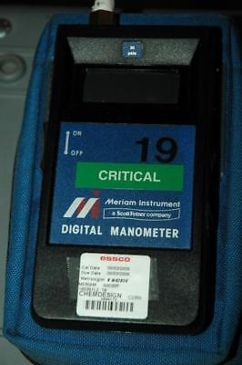 Meriam Instruments A0030P Portable Digital Manometer 30 Day Warranty