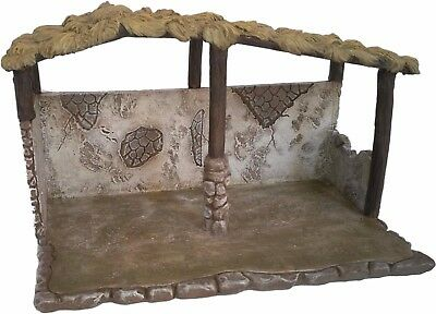 """Nativity Stable/Shed for Christmas Nativity Scene. 8"""" Hand painted Nativity Barn"""