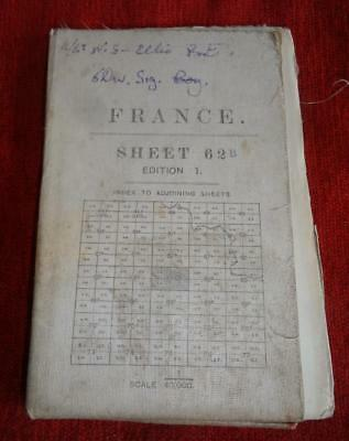 WW1 Military Map France Sheet 62B - 1/40000  Oct 1917 St Quentin