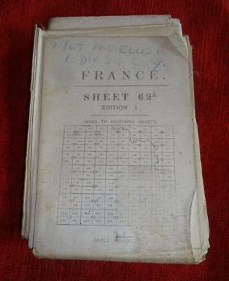 WW1 Military Map France Sheet 62A - 1/40000 - 1916 - St Quentin
