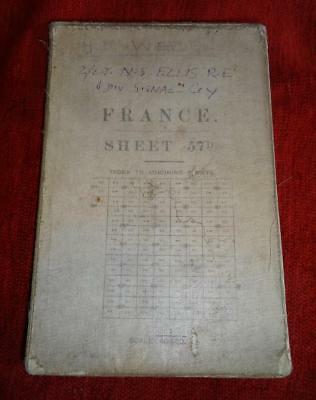 WW1 Military Map France Sheet 57D - 1/40000 - 1916