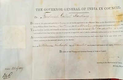 ROYAL Viceroy Governor India Signed VELLUM British Document Military Appointment