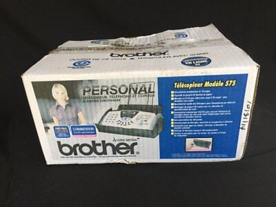 BROTHER FAX-575 Personal Plain Paper Fax, Phone & copier BRAND NEW