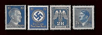 NAZI GERMANY Third 3rd Reich WW2 20 Pf Hitler Eagle Swastika stamps MNH