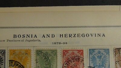 Bosnia Stamp collection on Scott album pages w/ 300 or so