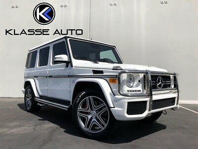2014 Mercedes-Benz G-Class G 63 AMG 2014 Mercedes-Benz G63 AMG SUV White on White Only 25k Miles Clean Carfax Wow