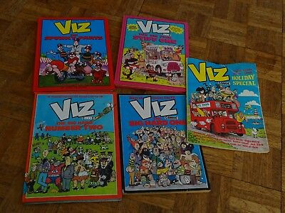 Collection of 5 Viz Annuals and Holiday special Big Hard one ++ FREE POSTAGE