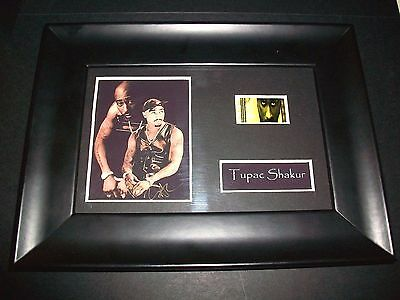 TUPAC SHAKUR Framed Movie Film Cell Memorabilia - Compliments poster dvd book