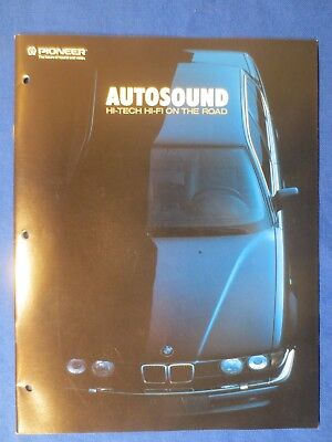 Pioneer DEH-55 CDX-3 KEX-M800 CD-M1 KEH-M5000QR Car Audio 1989 Catalog Brochure