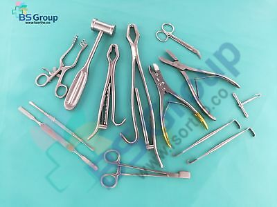 Veterinary Orthopedic Kit Surgical Instruments Set Of 15 Pcs Excellent Quality