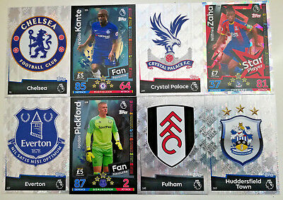 MATCH ATTAX 2018/19 18/19 cards # 91-180 Chelsea Palace Huddersfield Fulham Ever