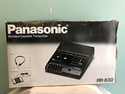 Panasonic RR-830 Standard Cassette Tape Transcriber original box