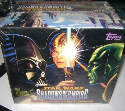 vintage 1996 Topps Star Wars Shadows Of The Empire Factory Sealed Box 36 Packs