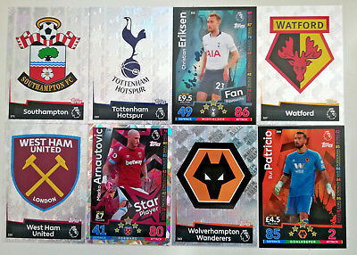 MATCH ATTAX 2018/19 18/19 # 271-360 Soton Watford Spurs West Ham Wolves