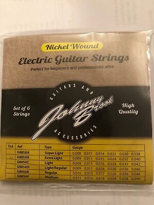 1 Set Johnny Brook Nickel Wound Electric Guitar StringSet of 6 ( Extra Light)
