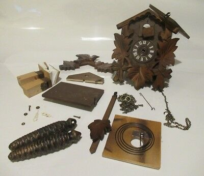 German Cuckoo Clock for Spares or Repair